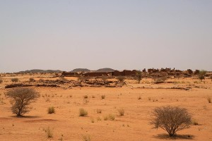 The Small Enclosure of Musawwarat in the centre of the picture, with the Great Enclosure in the background (photo: Claudia Näser)